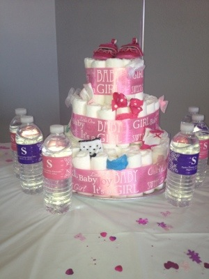 Baby Girl Diaper Cake | Moniqueis.com