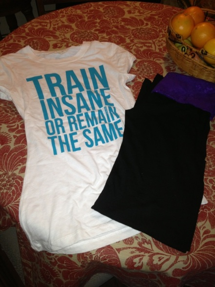 I finally purchased some Blogilates items. Train insane or remain the same, words to remember!