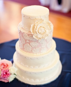 This is just a random wedding cake from The Knot.