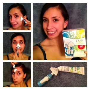 Me testing out Olay Fresh Effect Powered Contour Cleansing System and having a little fun with it!