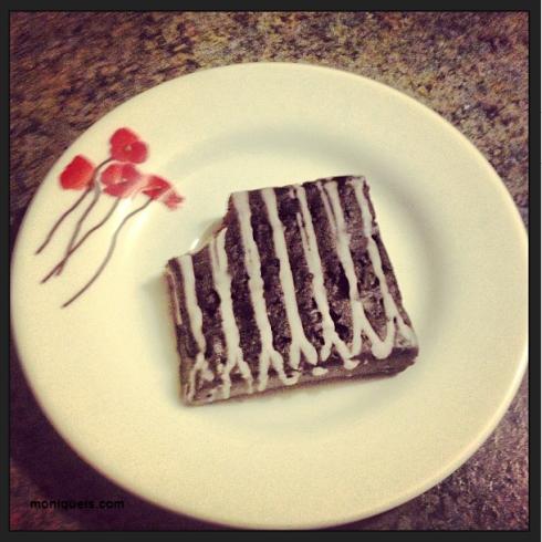 Chocolate Raspberry FIT Brownie, my favorite!