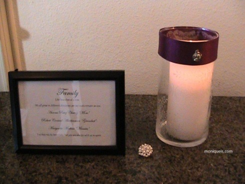 I used a white LED candle for the actual wedding. Photo courtesy of Sal Romero.