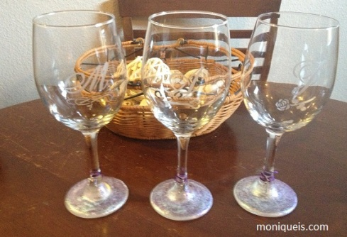 Bridesmaid Wine Glass DIY Gifts