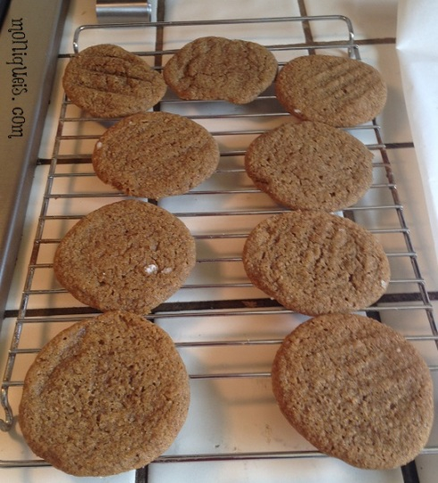 Molasses Cookies on Cooling Rack