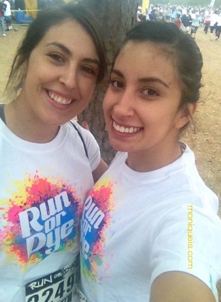 My sister Marina and me before the run.